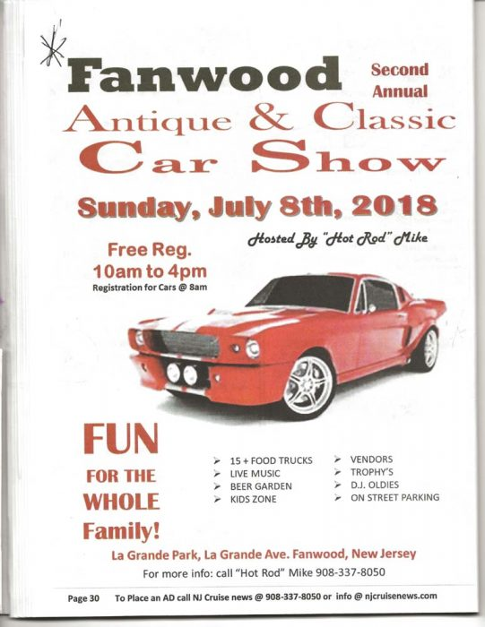 2nd Annual Fanwood Antique Classic Car Show