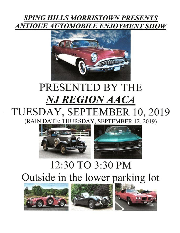 Auto Show Flyer 2019 - Spring Hills of Morristown Cruise In