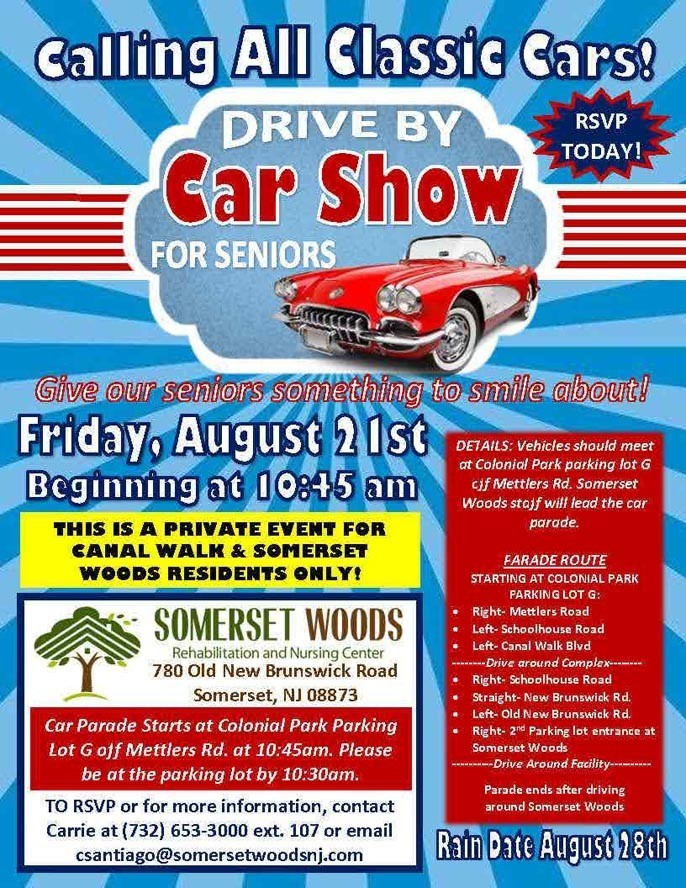 car show flyer - 2020 Community Drive-By Car Show